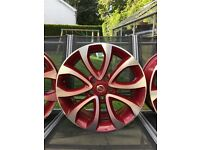 Nissan Alloys to suit Juke or Qashqai Force Red
