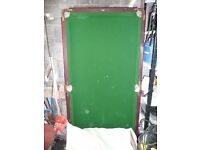 snooker table half size. Composite bed with legs