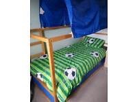 Ikea reversible bed with mattress and tent