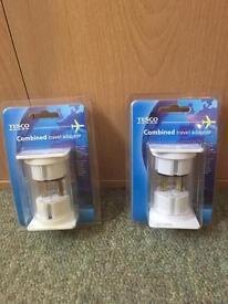 2 travel adaptors