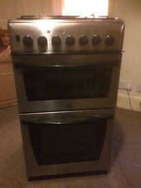 Indesit Cooker silver free standing oven and grill Gass hob(free delivery)