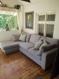 Grey John Lewis Lshaped sofa for sale