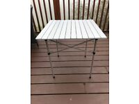 Roll Up Outdoor Camp Travel Camping Picnic Garden Aluminium Table from Halfords