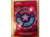 Modern music question quiz game by Marks and Spencer £1