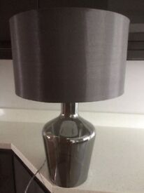 GREY TABLE LAMP FOR SALE- GlASS BASE