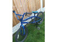 Haro BMX bike in blue.
