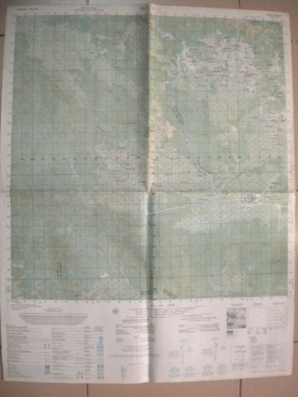 HAU DUC Vietnam map Attack on FSB Mary Ann  Mildred Quang Tin 6639 IV