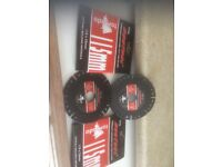 Two Duotool 115mm diamond cutting discs , all building materials