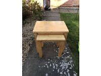 Solid Wood Nest of 2 Tables