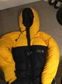 Brand new Rab Down Expedition suit size large