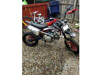 Crf50 frame with a 140cc