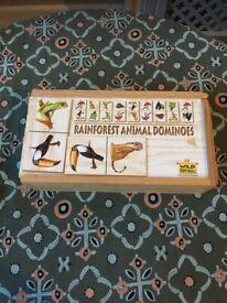 Wooden Rainforest Animal design Dominoes (by Wild Republic)