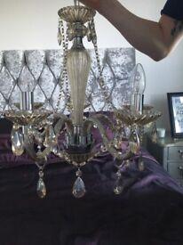 Chandelier light - glass