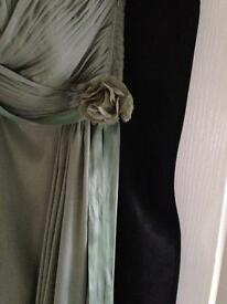 COAST ALLURE MAXI DRESS -BRIDESMAID - SIZE 16 - THYME