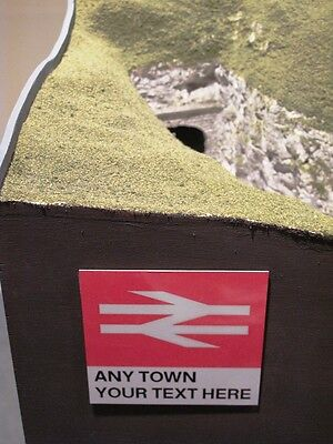 Customised British Rail Sign | Personalised Model Railway Layout Name | Train