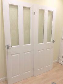 2 x White Internal Doors