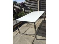 Ikea white frosted dining table