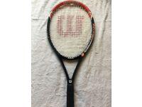 Wilson Hammer Tennis Racquet. Cracked Tennis Racket for Sale. L3 Grip. 295gm.