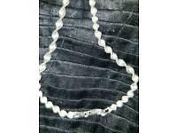 Silver wrist bracelet