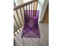 Four John Lewis gel chairs