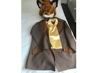 Fantastic Mr Fox costume with head piece. In great condition. Age 7-8.