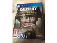 call of duty ww2 PlayStation 4 sealed