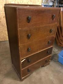 Tall vintage bedroom drawers