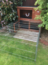 Rabbit / Guinea Pig Two Tier Hutch and Run.