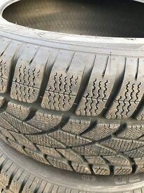 WINTER TYRES DUNLOP SP SPORT 255/45/R20 7mm (4 Tyres)