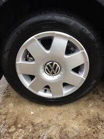 Vw polo alloy wheels & tyres , 5x100