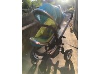 icandy peach carrycot and pushchair