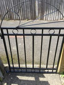Black steel gate.