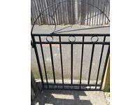 Black steel gate