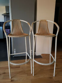 2 Rattan Bar Chairs in very good condition CLEARANCE