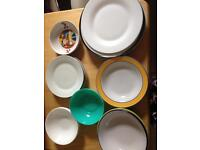Plates and bowls 20p each