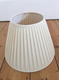 Cream pleated lamp shade