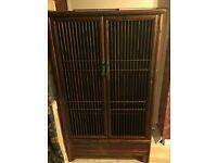 COLONIAL WARDROBE 2 DOORS,2 DRAWERS ,MAHOGANY,SOLID WOOD