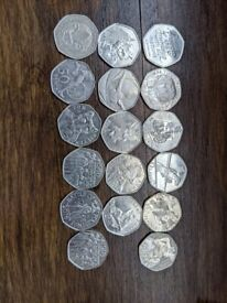 Random mix of collectable 50ps