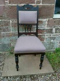 Antique chair with new upholstery and fabric
