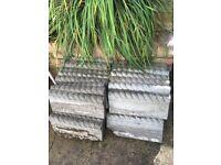 35 used Rope edging stones 44.5cm x 20cm x 5cm plus 7 broken ones
