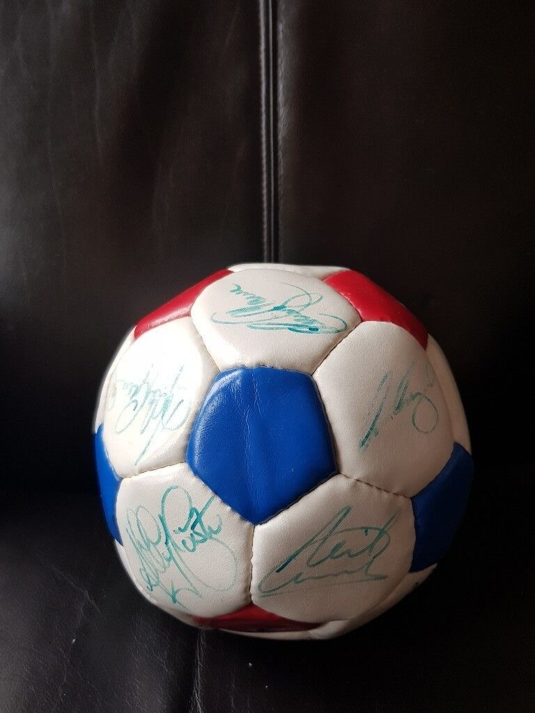 Signed Rangers Football Club ball from the 9 in a row squad