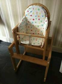 Child high chair / chair and table
