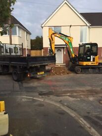 MINI DIGGER/OPERATOR AND GROUNDWORKERS FOR HIRE