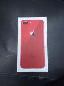 Unused Apple iPhone 8 Plus 64 GB RED