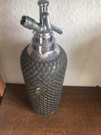 Vintage mesh soda syphon