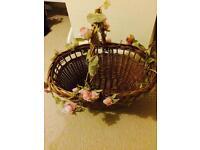 2x flower girl / confetti/bubbles baskets - wedding