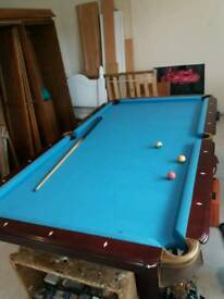 American pool table real gem 4 foot by 8 foot