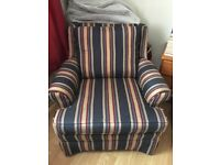Regency striped arm chair
