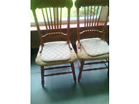 Old style four chairs in gd condition £15