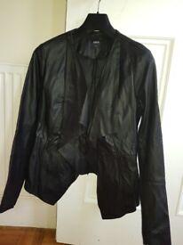 Oasis Faux Leather Jacket size medium